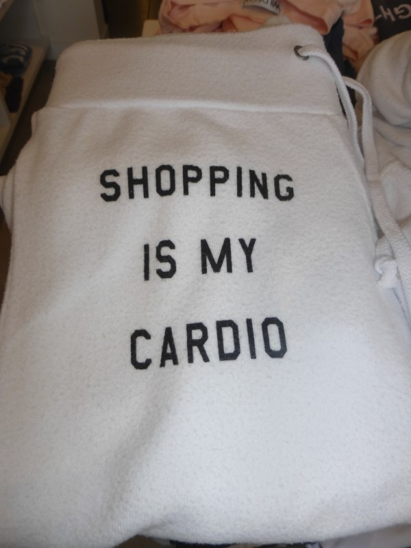 Shopping is My Cardio White Sweatpants From Kitson Malibu