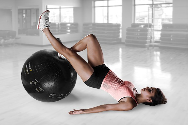 Self Guided how to use the stability ball for flat abs