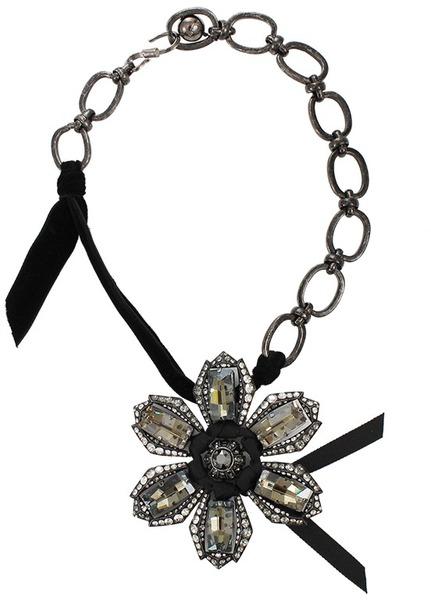Lanvin Big Flower Necklace at Lanvin Store Malibu