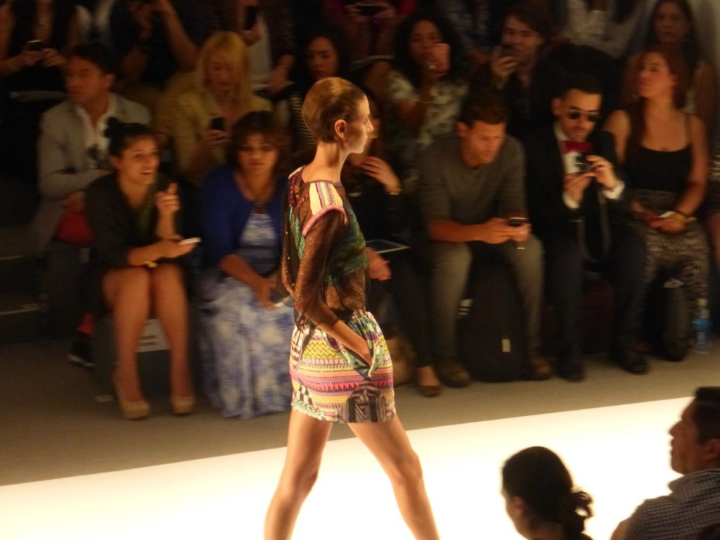 Custo Barcelona NYFW September 2013 Mini Skirts colorful tops gorgeous collection.