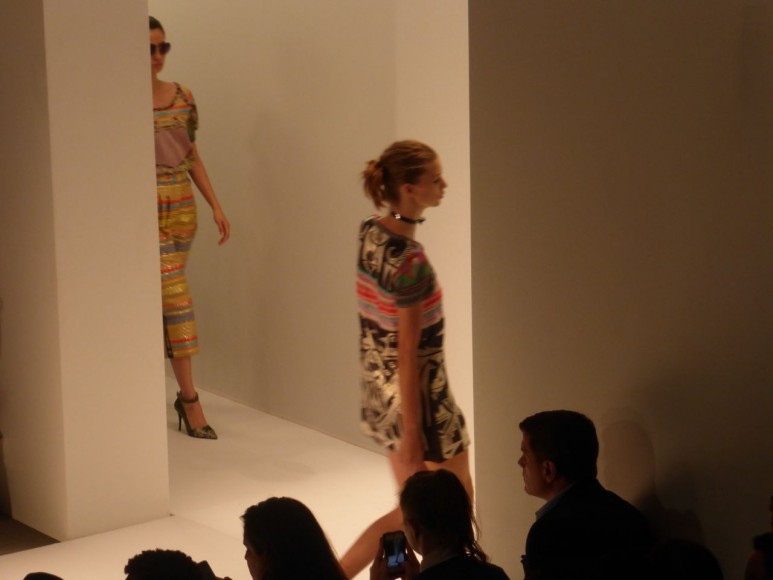 CustoBarcelona NYFW 2013 Aztec Embroidery sets the colorful mood of his ready to wear collection