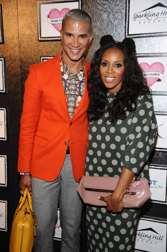 Jay Manuel Poses with June Ambrose during New York Fashion Week GBK gifting suite at the Empire Hotel.