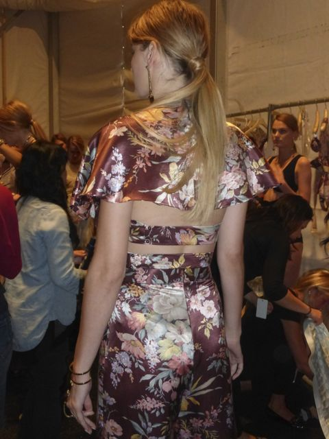 Kobi Model Zimmermann Hair Long Blond Pony Tail Trend. Long Hair trend at New York Fashion Week Spring 2014 looks.