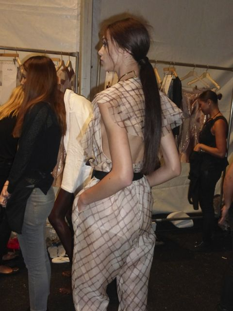 Hair trends at Zimmermann spring summer 2014 collection was long straight ponytails