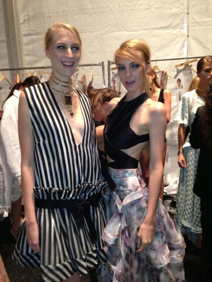 Models Backstage at Zimmermann NYFW Having Fun Before the Show
