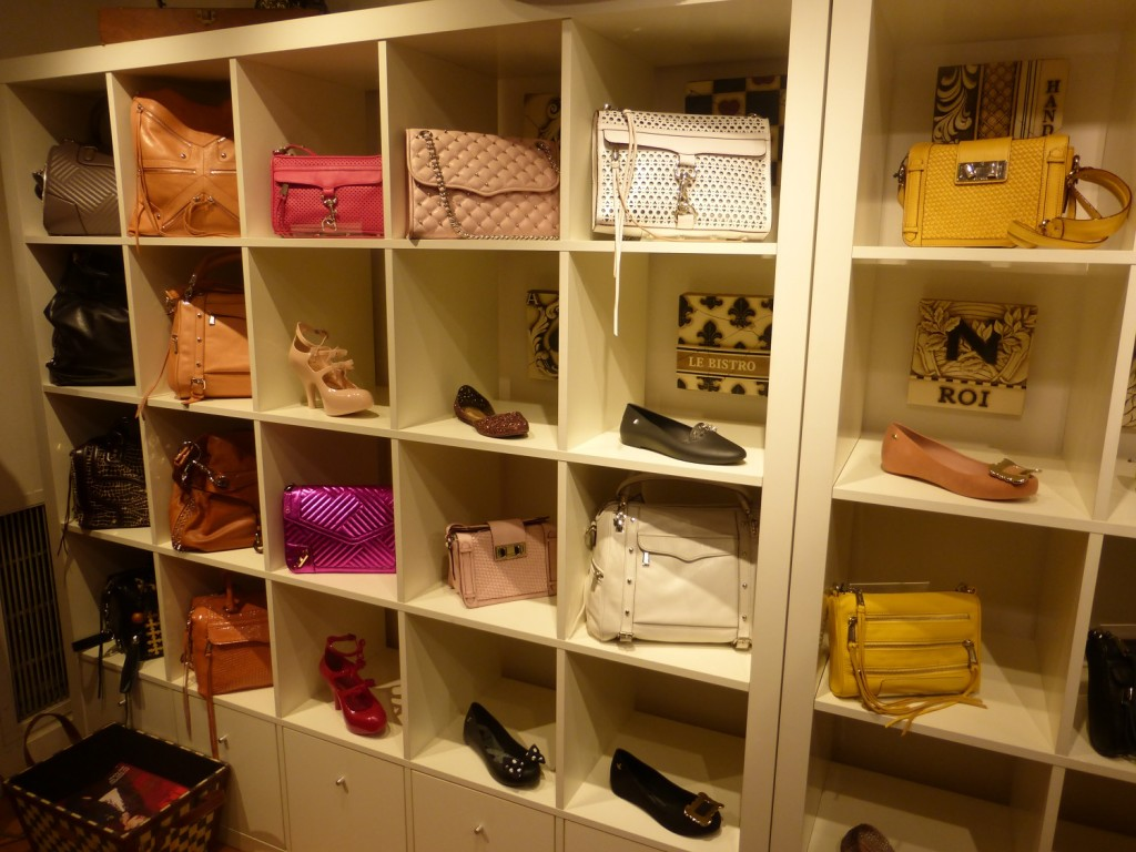 Assortment of colors Rebecca Minkoff bags on sale in New York City Upper East Side
