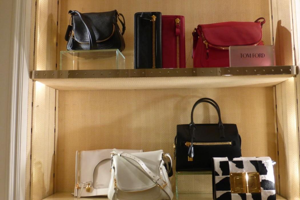 Bergdorf Goodman NYC shopping Tom Ford hot handbags Jennifer bag calfskin tote