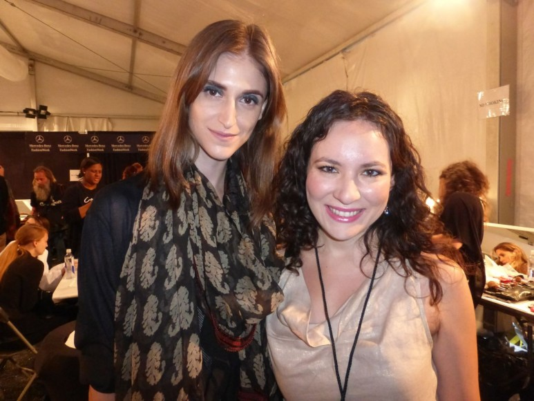 With model Daiane Conterato Backstage at Zimmermann Show Lincoln Center NYFW 2013