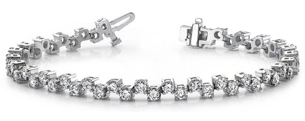 Zig Zag Diamond Fashion Bracelet Style Trends Jewelry