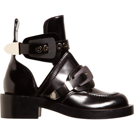 Balenciaga Buckle strap ankle boots, Fall 2013 Boot trend