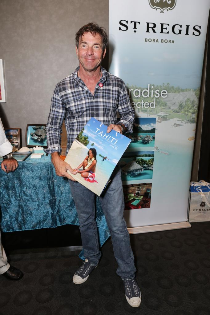 Dennis Quaid St. Regis Resort Bora Bora, bet he can't wait to take his vacation.