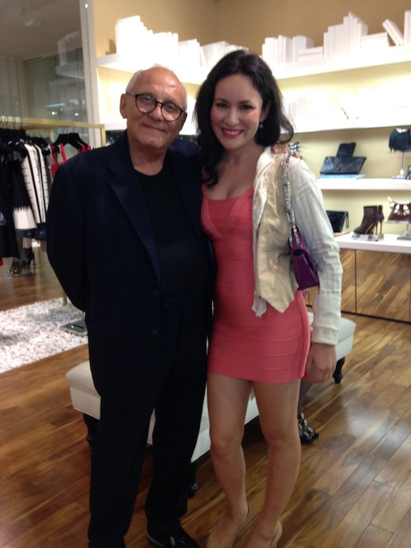 At the Herve Leger Barbie event with Max Azria