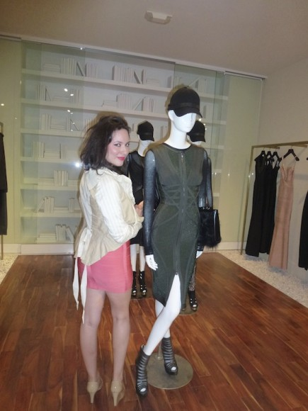 At the Herve Leger Barbie Doll Launch event at the melrose boutique.