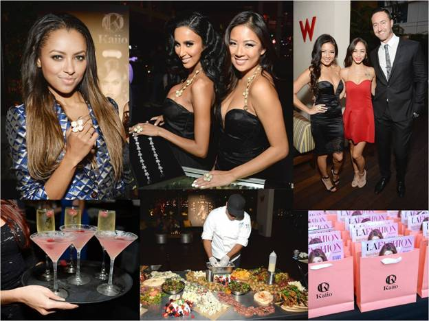 Kaiio Launch Party at the W Hotel in Hollywood because every Fashion Trend Forward girl needs a sparkle in her step