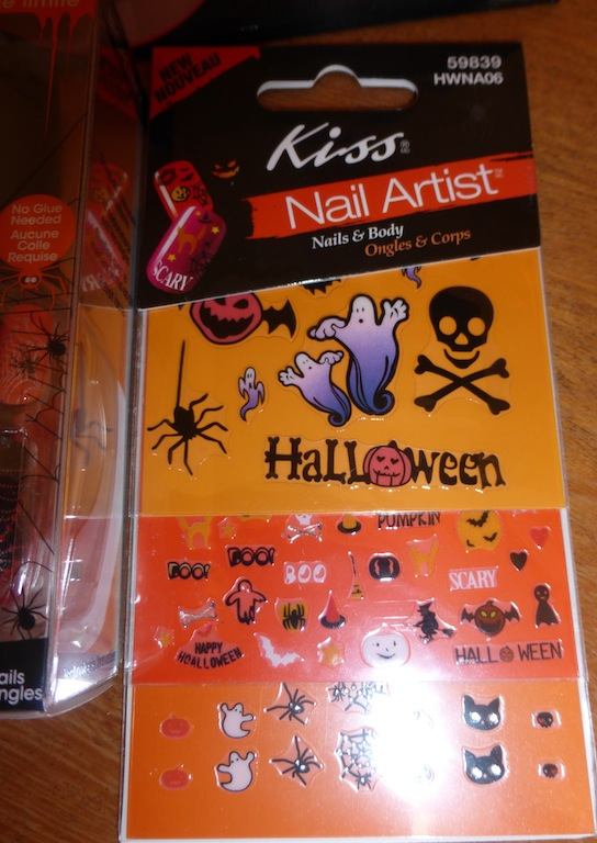 Halloween themed nail art stickers for decorative nail art designs.