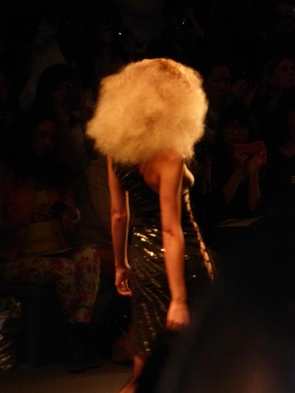 Reem Acra wild hair at Spring 2014 New York Fashion Week Show