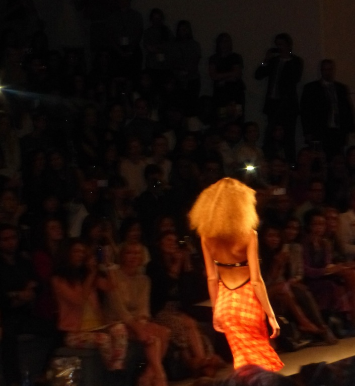 Open back cut out dresses and Wild Hair at Reem Acra MBFW Show at Lincoln Center Love the couture