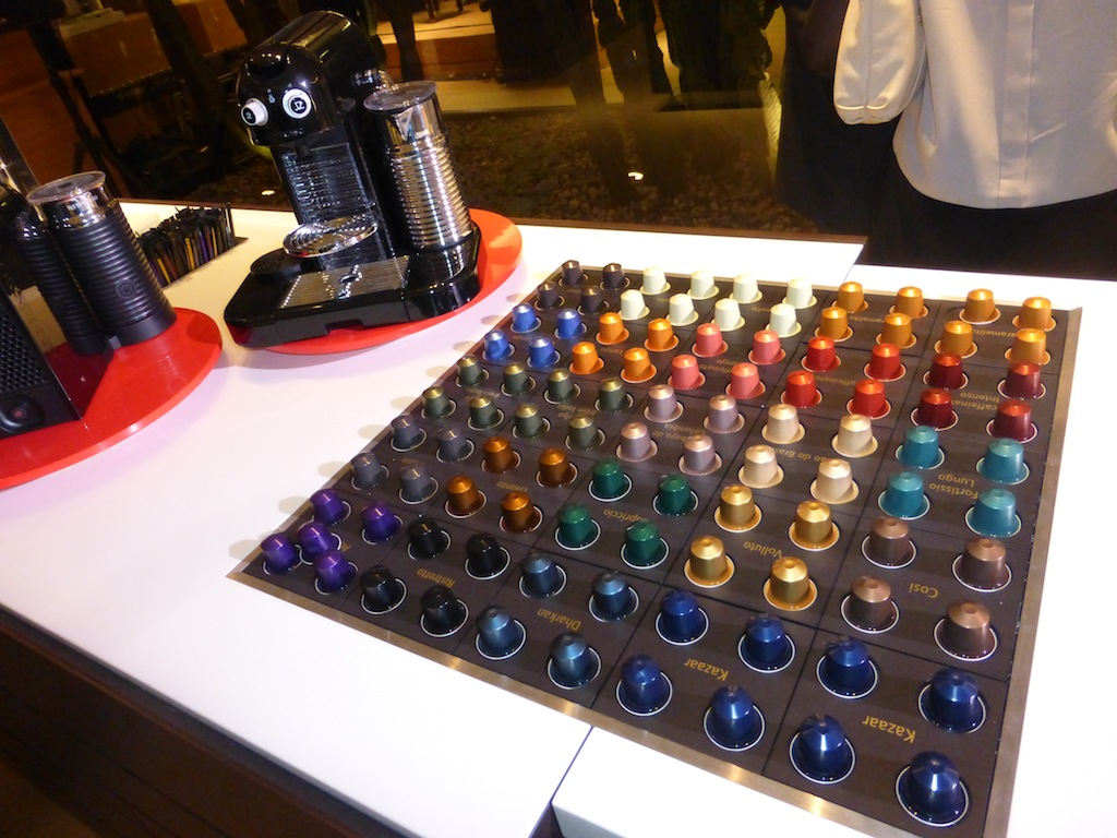 Nespresso so many different flavors, sip, savor and enjoy at the Nespresso Boutique Party in Beverly Hills.