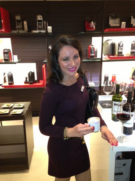At the Nespresso grand opening party in Beverly Hills