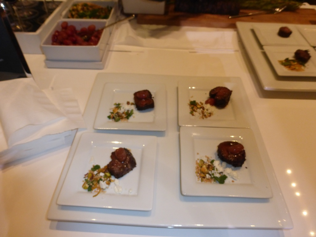 Small plates delicious food at Nespresso event in Los Angeles