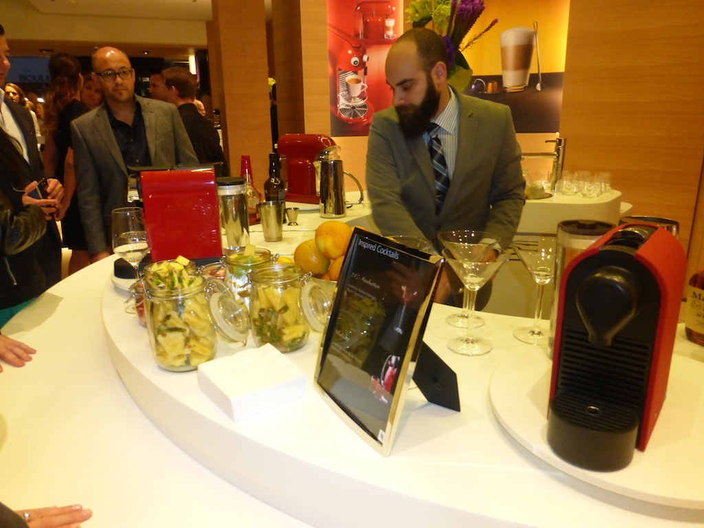 Drinks at Nespresso Event Grand Opening Party in Beverly Hills