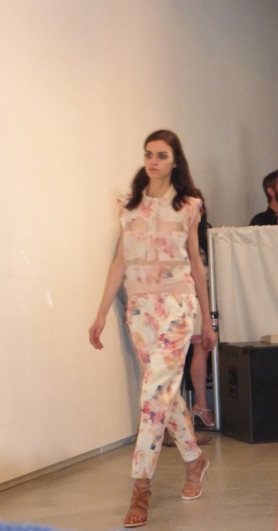 New York Fashion Week Rebecca Taylor Spring Summer 2014 Collection floral pants and sheer floral tops