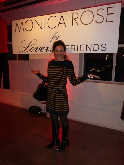 Celebrity style Monica Rose for Lovers and Friends Party in Hollywood Winter 2013 Collection
