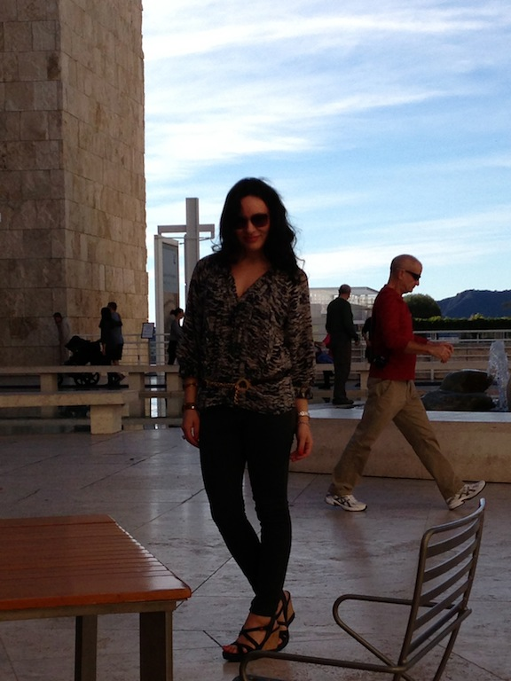 Getty Center Museum in Los Angeles Winter 2013 Style includes Prada, Joie and Moschino