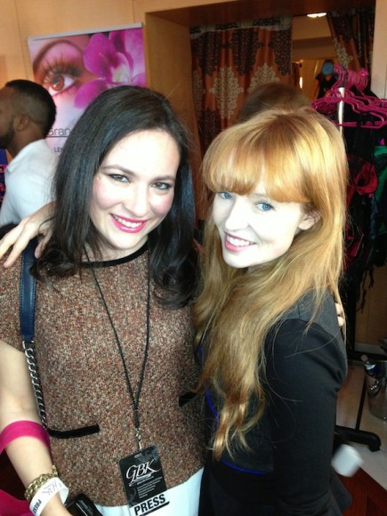 With Hunger Games Star Stef Dawson at GBK Celebrity Gifting Lounge American Music Awards 2013
