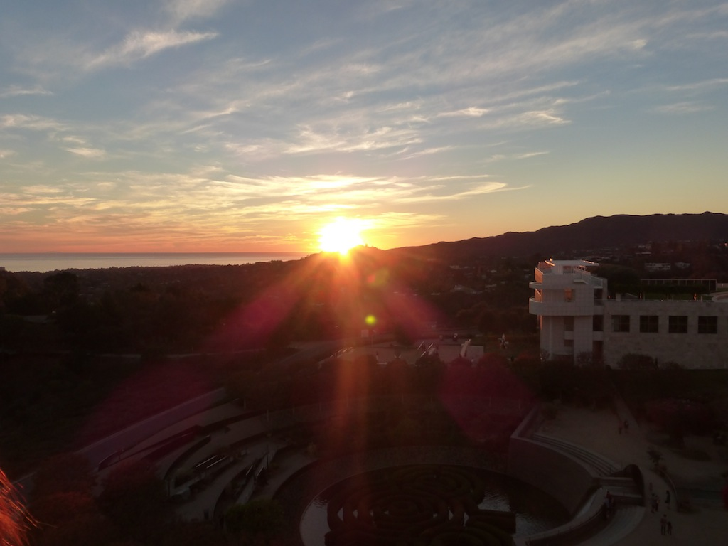 Gorgeous LA winter Sunset at the Getty Museum in Bel-Air