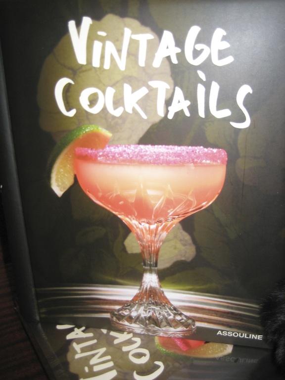 Assouline Vintage Cocktails Book at the SLS Hotel Beverly Hills