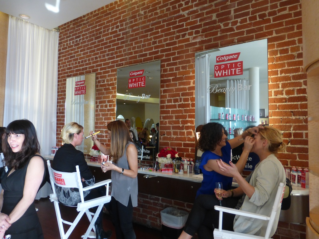 Sexy Hair Presented the Colgate Optic White Beauty Bar at Prive Salon in Los Angeles