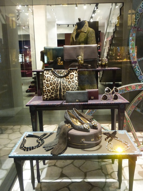 Hot Winter Fashion Dolce and Gabanna NYC Window Display is artistic style