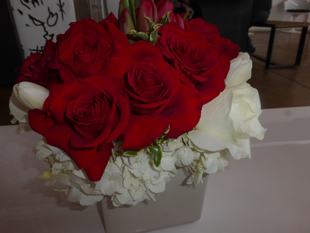 Prive salon in Los Angeles gorgeous red roses for Golden Globe Celebrity Event