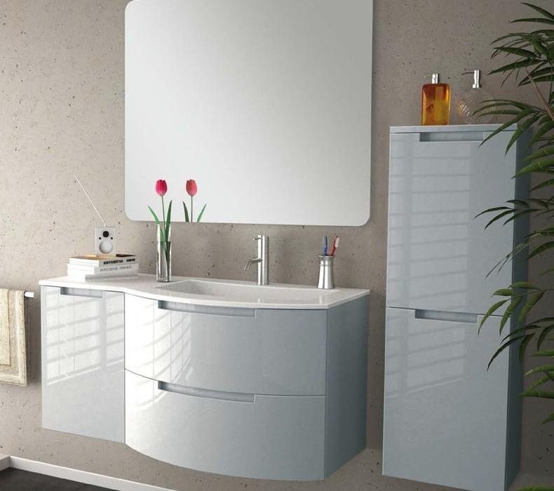 Modern Glossy White Vanity Set. Modern Glossy White Vanity Set   Fashion Trend Forward
