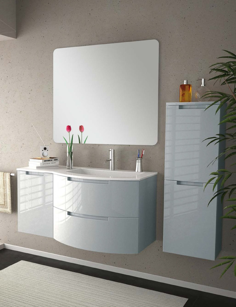 Modern Glossy White Vanity Set for a New Year Modern Vibe