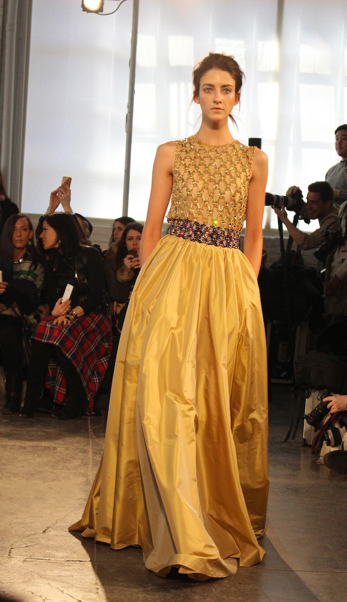 Jenny Packham Gorgeous Yellow Skirt Evening Wear 2014 NYFW