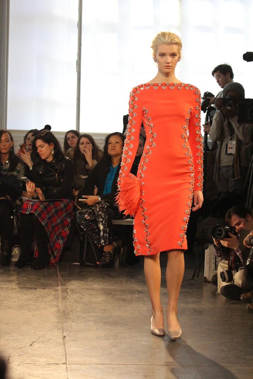 Organge Jenny Packham Evening Dress NYFW 2014