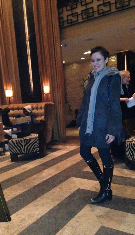 Pearl Grey Scarf Saks Portolano For NYFW Style trends 2014