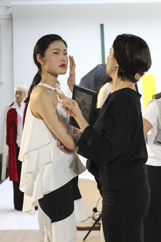 Rosie Assoulin Backstage MAC Beauty Secrets Makeup trends 2014 NYFW
