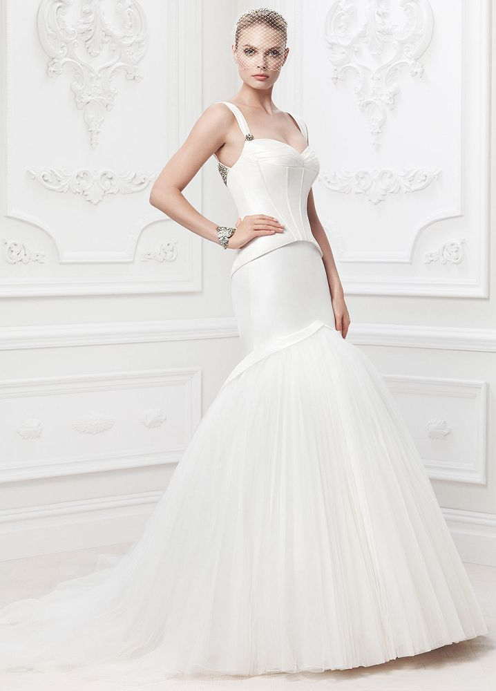 Zac Posen Fit and Flare wedding dress hottest bridal dress trends 2014