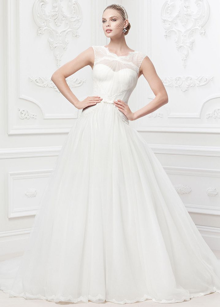 ZacPosen lace and tulle ballgown at David's Bridal