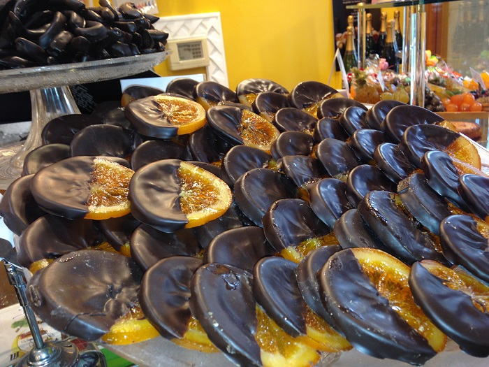 Chocolate covered Orange Slices Sweets of Sen Sebastian Basque Country