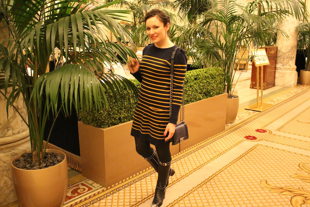 Opulence at The Plaza Hotel during NYFW Prada Autumn Cashmere Wolford tights