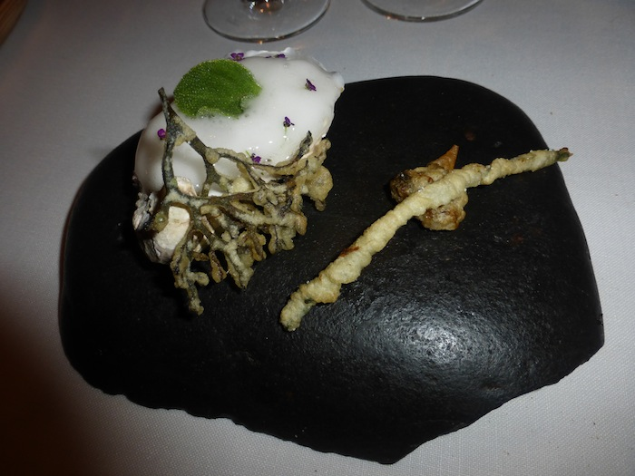 Azurmendi homemade oyster is one of Eneko Atxa's Signature plates