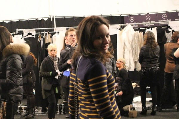 Backstage with Kaufman Franco at Lincoln Center before the fashion show