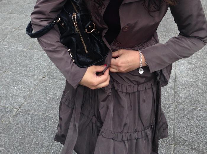 Darling British Clothing Feminine Ruffle Rain Jacket Perfect for Bilbao Spain and European Adventures
