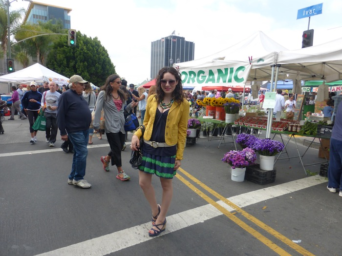 J Crew spring Style trends  at The Hollywood Farmers Market