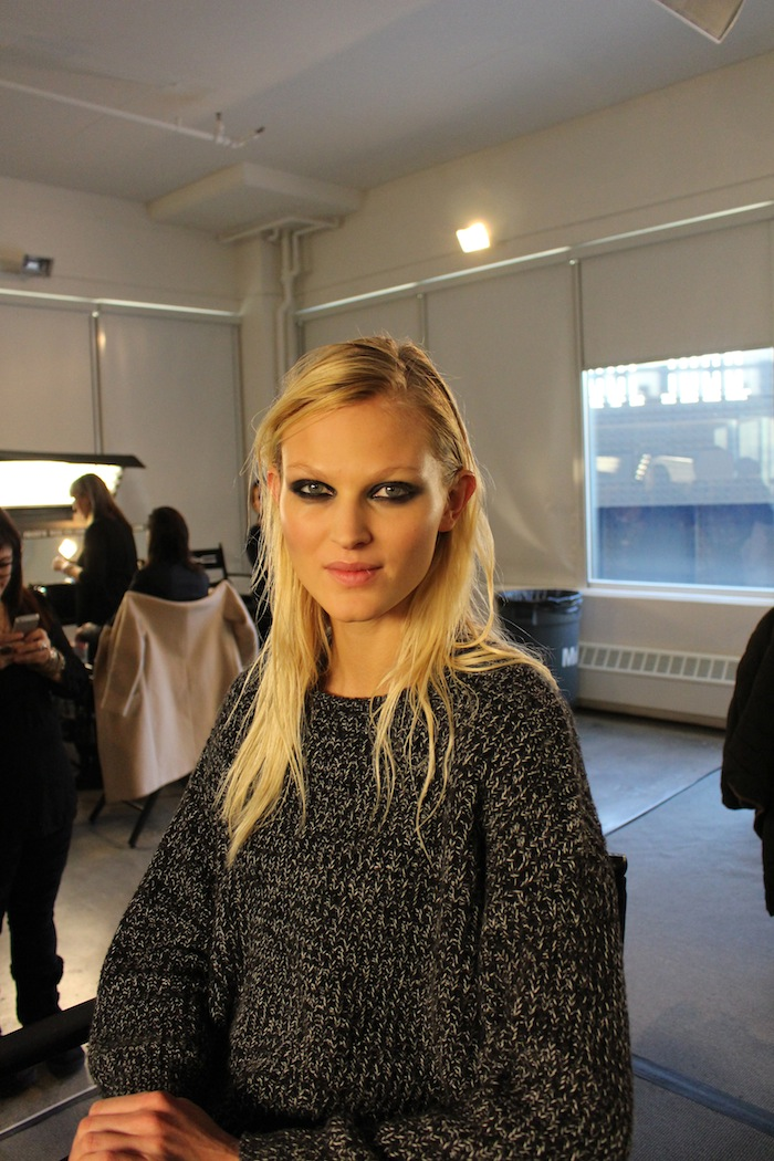 Model Backstage at Sophie Theallet NYFW MAC Makeup