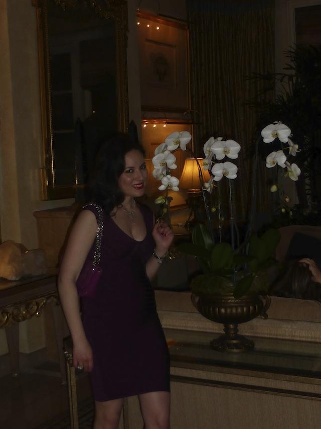 QVC Oscar Event at the Four Season wearing my hair long and wavy Vito Esposito Salon